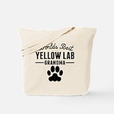 Worlds Best Yellow Lab Grandma Tote Bag