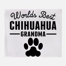 Worlds Best Chihuahua Grandma Throw Blanket