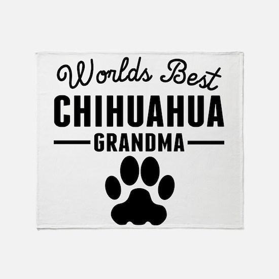 Worlds Best Chihuahua Grandma Throw Blanket