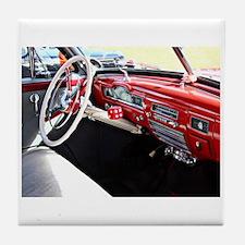 Classic car dashboard Tile Coaster