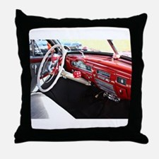 Classic car dashboard Throw Pillow