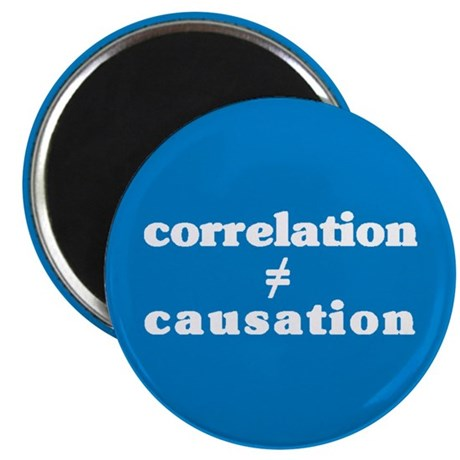 Correlation Causation Magnet