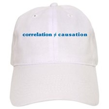 Correlation Causation Baseball Cap
