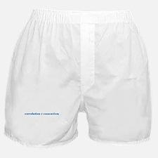 Correlation Causation Boxer Shorts