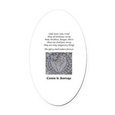 Camino Poem With Waymark Oval Car Magnet