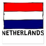 Netherlands flag Square Car Magnets