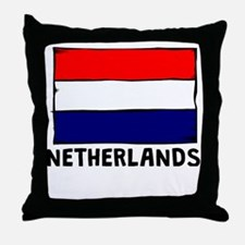 Netherlands Flag Throw Pillow