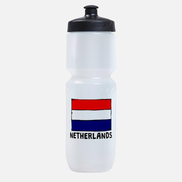 Netherlands Flag Sports Bottle