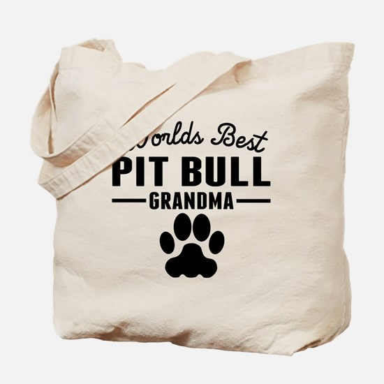 Worlds Best Pit Bull Grandma Tote Bag