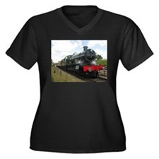 Vintage steam engine by Tom Conw Plus Size T-Shirt