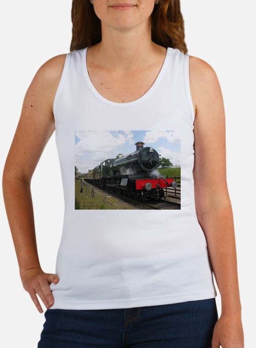 Vintage steam engine by Tom Conway Art. R Tank Top
