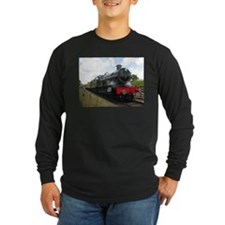 Vintage steam engine by Tom Co Long Sleeve T-Shirt