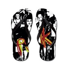 Punk Rock music fashion art and design Flip Flops