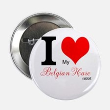 """I heart my Belgian Hare 2.25"""" Button"""