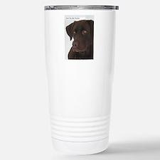 Cute Chocolate labrador retriever Travel Mug