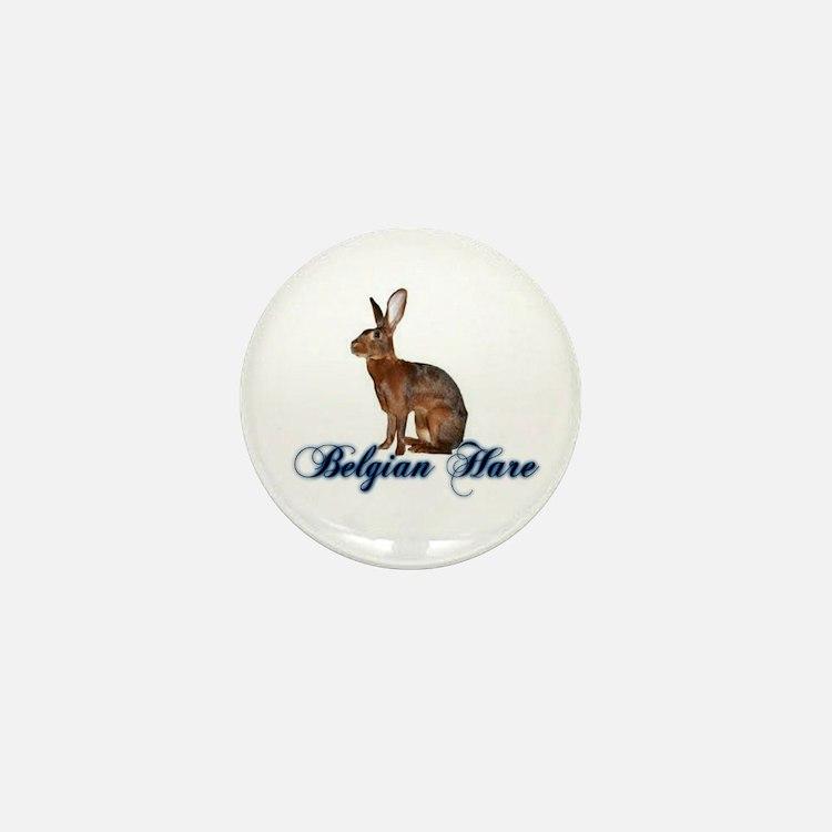 Belgian Hare Mini Button