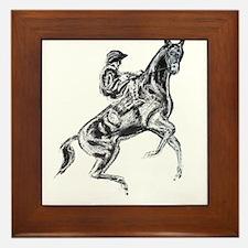 Rearing horse Framed Tile