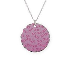 Hugs And Kisses Pink XO XO Necklace