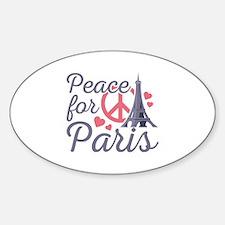 Peace For Paris Sticker (Oval)