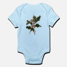 Vintage Christmas Holly Body Suit
