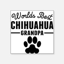 Worlds Best Chihuahua Grandpa Sticker