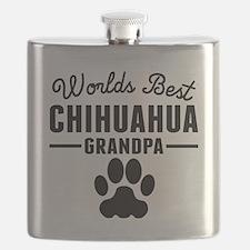 Worlds Best Chihuahua Grandpa Flask