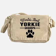 Worlds Best Yorkie Grandpa Messenger Bag