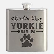 Worlds Best Yorkie Grandpa Flask