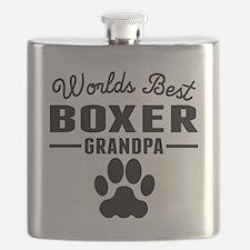 Worlds Best Boxer Grandpa Flask