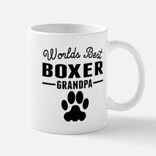 Worlds Best Boxer Grandpa Mugs