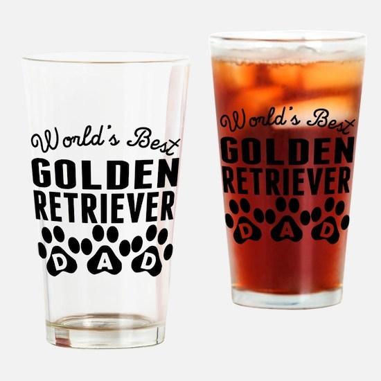 Worlds Best Golden Retriever Dad Drinking Glass