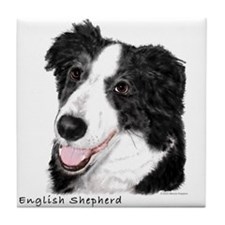 English Shepherd Tile Coaster