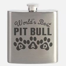 Worlds Best Pit Bull Dad Flask