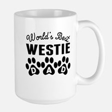 Worlds Best Westie Dad Mugs