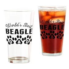 Worlds Best Beagle Dad Drinking Glass