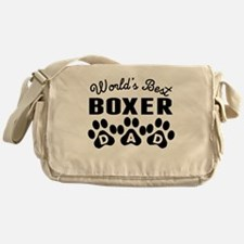 Worlds Best Boxer Dad Messenger Bag