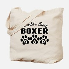 Worlds Best Boxer Dad Tote Bag