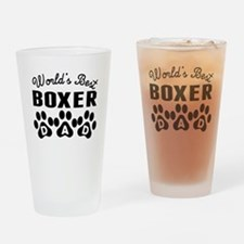 Worlds Best Boxer Dad Drinking Glass