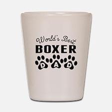 Worlds Best Boxer Dad Shot Glass