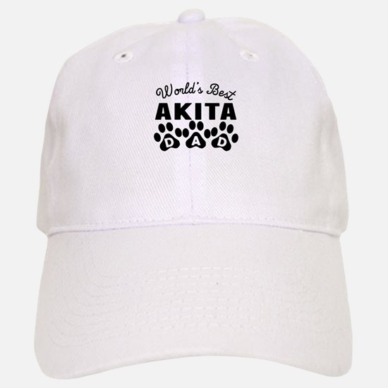 Worlds Best Akita Dad Baseball Cap