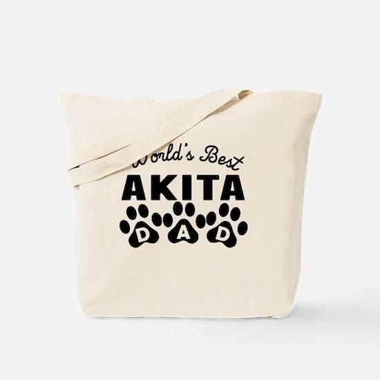 Worlds Best Akita Dad Tote Bag
