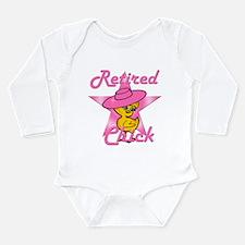 Retired Chick #8 Long Sleeve Infant Bodysuit