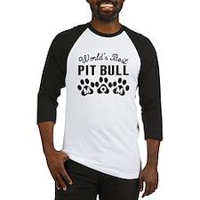 Worlds Best Pit Bull Mom Baseball Jersey