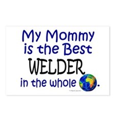 Best Welder In The World (Mommy) Postcards (Packag