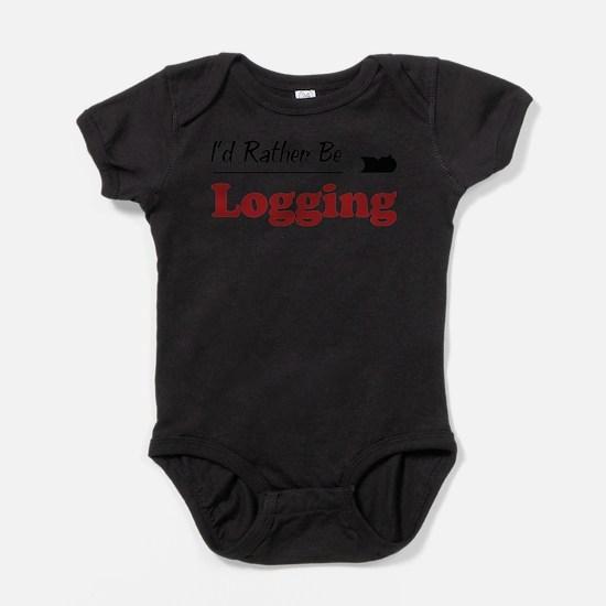 Funny Logging Baby Bodysuit