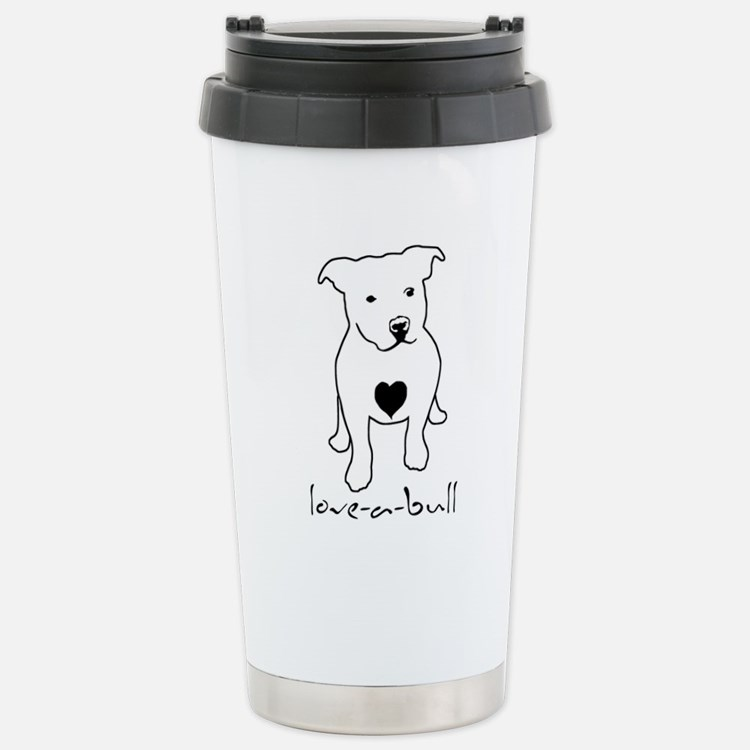 Cute Pit bull Travel Mug