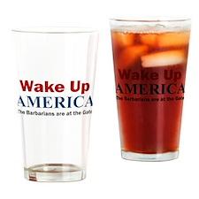 Wake Up AMERICA Drinking Glass