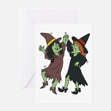Dancing Witches Greeting Cards (Pk of 20)
