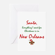 Cool New orleans christmas Greeting Cards (Pk of 20)