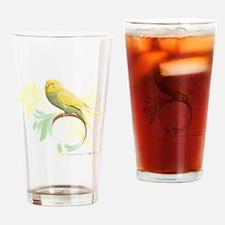 Pastel Green Parakeet Drinking Glass